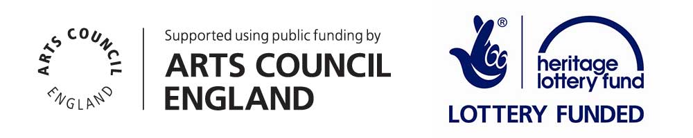 Arts Council England and Heritage Lottery Funding logos