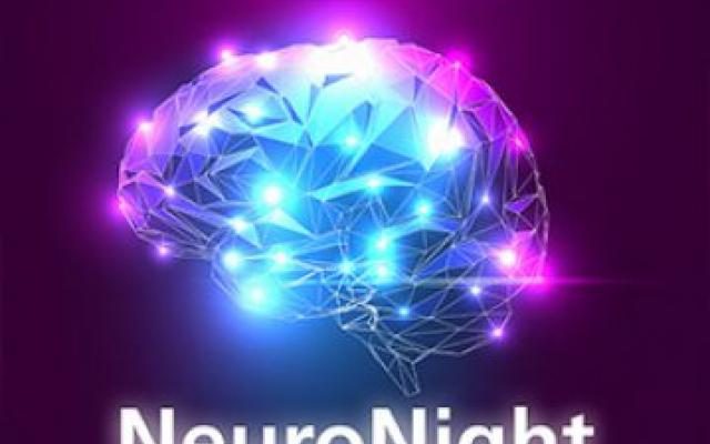 Poster for NeuroNight featuring brain