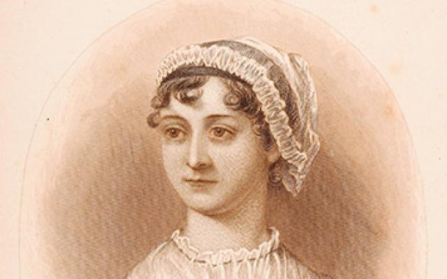 Portrait of Jane Austen from the frontispiec of A Memoir of Jane Austen