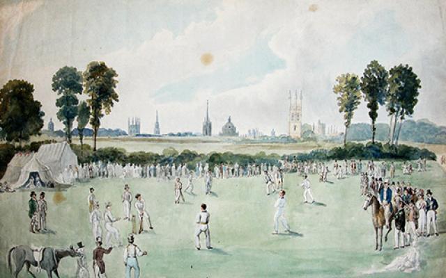 Image of sketch of Magdalen College cricket ground
