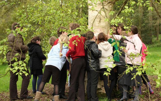 School visit to the Harcourt Arboretum
