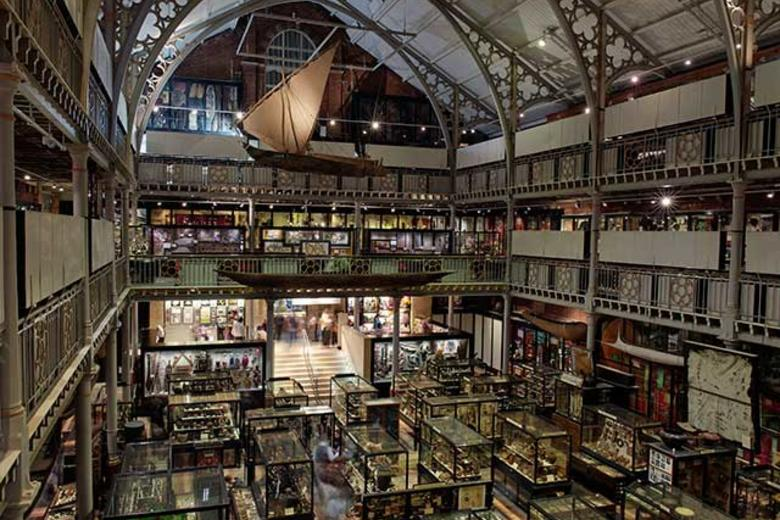 View inside the Pitt Rivers Museum