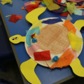Turtle craft made at Arts Award pilot activity session
