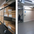Before and after shots of moving out collections in storage