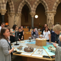 Museum professionals visiting the touch tables