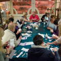 Adult learning session in the Museum of the History of Science
