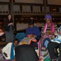BK LUWO group doing craft work