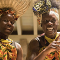 African dance group performing