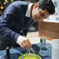 demonstrating sound waves with soapy bubbles with shamit shrivastava