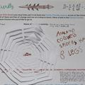 Example Discover Arts Award logbook page featuring spider's web