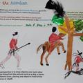 Example Discover Arts Award logbook page featuring Uccello's 'The Hunt' from the Ashmolean Museum