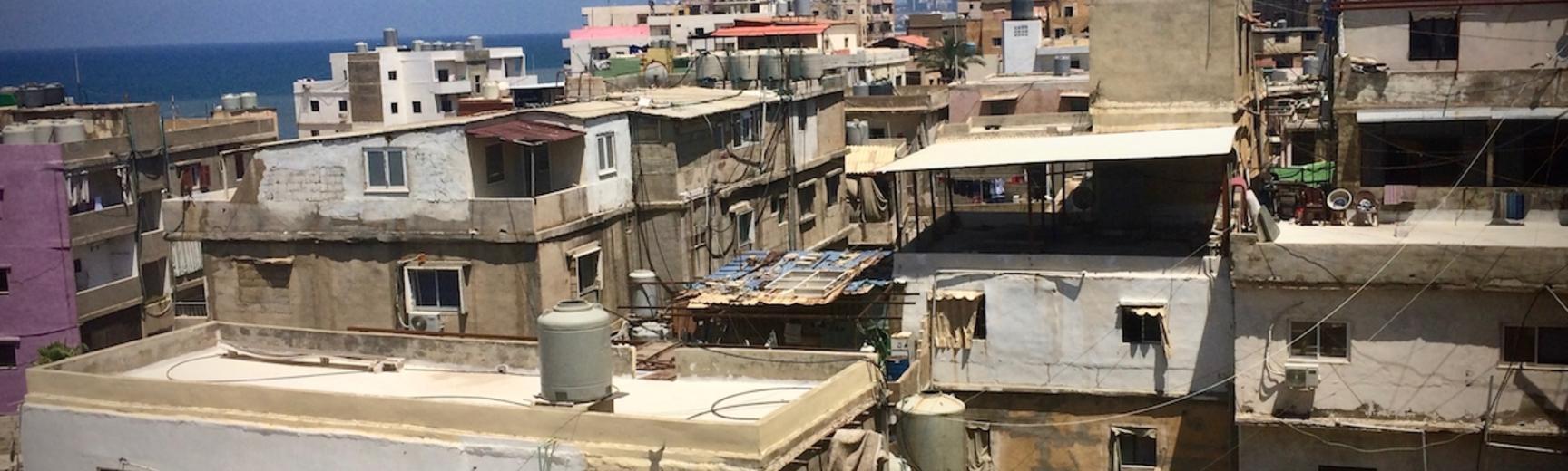 Informal area of Ouzaii in Beirut, Lebanon