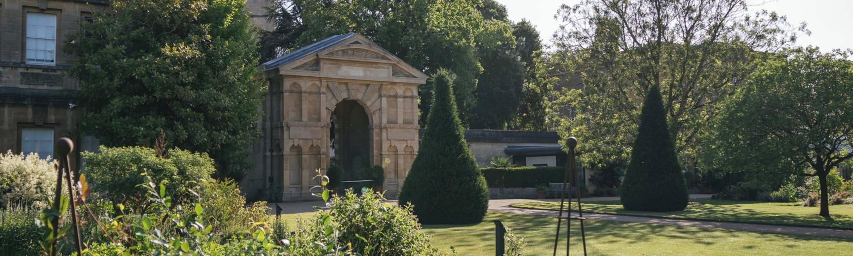 View of the Botanic Garden and its entrance arch