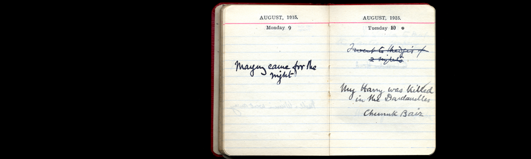 Amabel Moseley's Collins pocket diary England