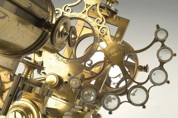 Close up view of a microscope