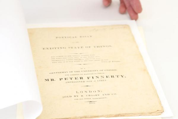 Poetical Essay on the existing state of things, by Percy Bysshe Shelley