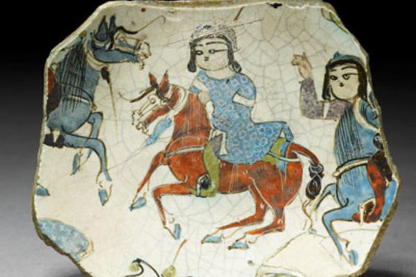 Fragment of a bowl with riders, Ashmolean Museum