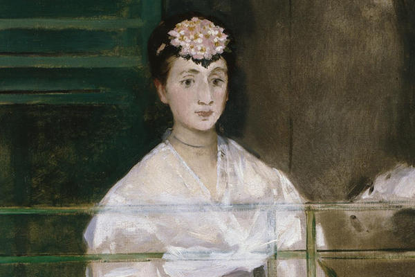 Detail from Edouard Manet's Portrait of Mademoiselle Claus, Ashmolean Museum