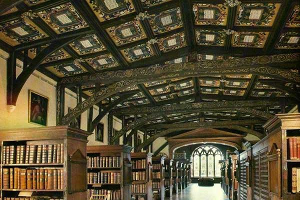 Interior view of Duke Humfrey Library Bodleian Library
