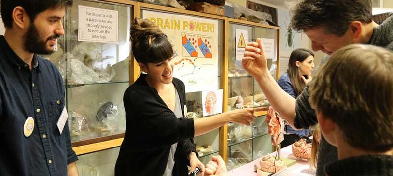 Researchers engaging the public with research at the Museum of Natural History