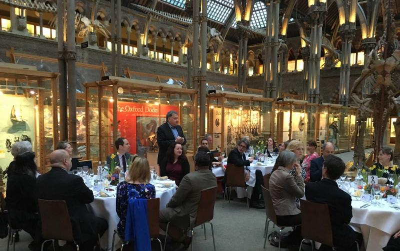 Oxford Cultural Leaders dinner at the Museum of Natural History