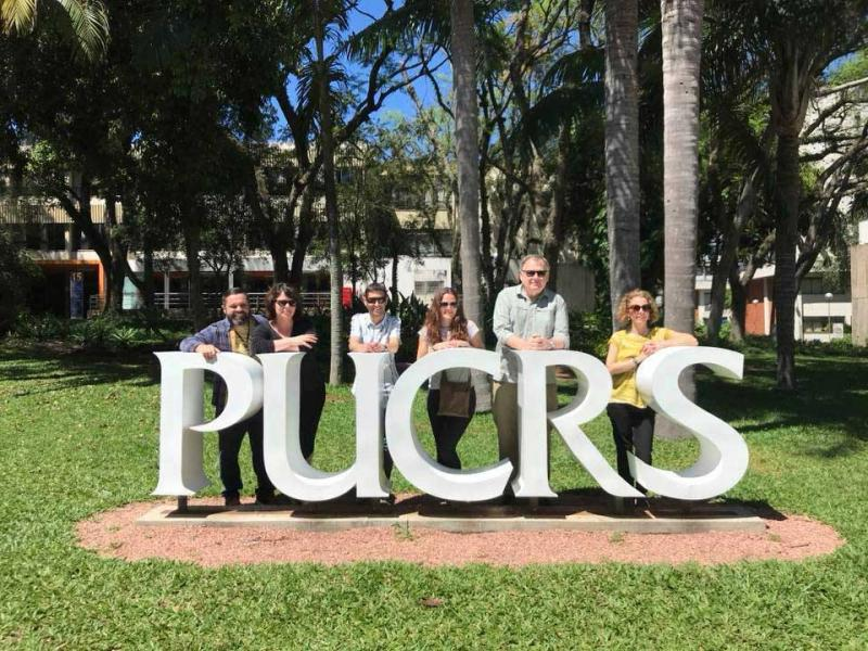 Oxford and Newcastle museum teams at PUCRS, Porte Alegre, Brazil