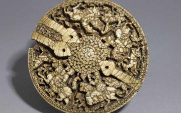 Umayyad Ivory Pyxis, Eastern Art, Ashmolean Museum