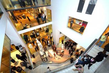Busy Atrium, Ashmolean Museum