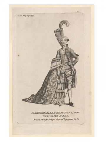 Mademoiselle de Beaumont, or the Chevalier d'Éon, London Magazine, September 1977 (Bodleian Library: John Johnson Collection)