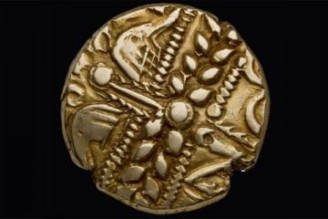 Coin from Iron Age coin collection, Heberden Coin Room, Ashmolean Museum