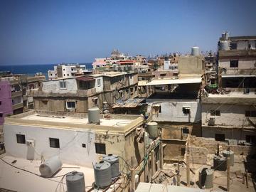 Informal area of Ouzaii in southern Beirut, Lebanon, copyright Hanna Baumann 2018