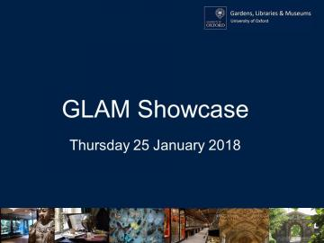 Cover slide for GLAM Staff Event in January 2018