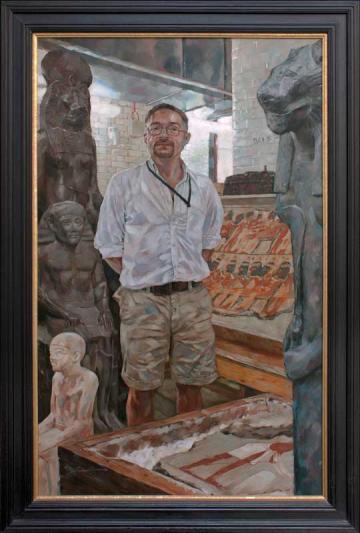 Portrait of R. B. Parkinson in the British Museum, by Simon Davis (2007). By kind permission of R. B. Parkinson.