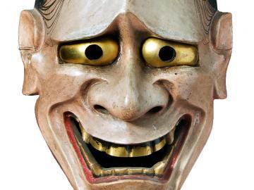 Noh theatre mask