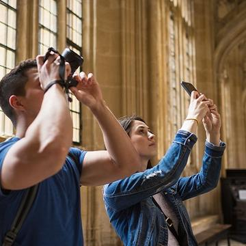 Visitors in the Divinity School