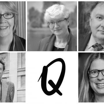 Portrait photos of Anne Trefethen, Silke Ackermann, Paul Smith Xa Sturgis and Laura van Broekhoven
