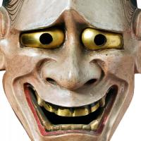 Japanese noh theatre mask